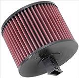 K&N E-2022 Filtro de Aire Coche, Lavable y Reutilizable, Rojo/Negro