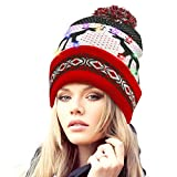 Adofect 10 LED Light Up Christmas Beanie Cap with...