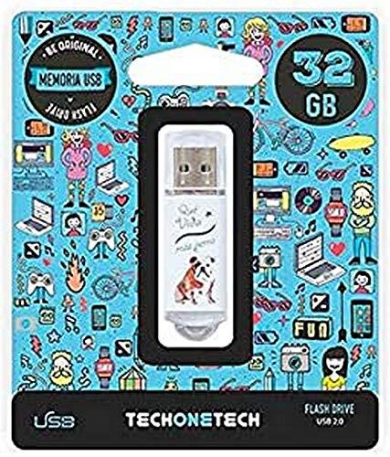 Tech-One-Tech Que Vida Mas Perra - Pendrive de 32 GB