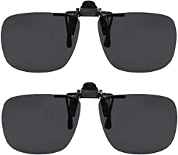 Clip On Sunglasses Flip Up Polarized Sunglasses Clip onto Eyeglasses Over Prescription Glasses Case Included