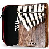 Moozica Kalimba Piano de pulgar de 21 teclas, profesional de alta calidad de madera de Koa Mbira con estuche de transporte de alto rendimiento y instrucciones de estudio (Acacia Koa-K21K)