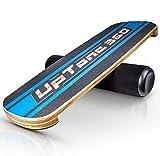 UpTone360 Balance Board - aus Birkenholz - besonders rutschfest & stabil - der ideale Gleichgewichtstrainer für Zuhause - perfekt für Snowboard, Skateboard & Surfboard Sportler… (blau)