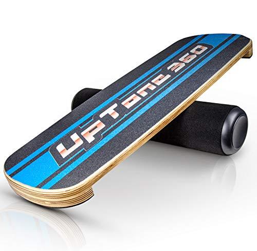 UpTone360 Balance Board - aus Birkenholz - besonders rutschfest & stabil - der ideale Gleichgewichtstrainer für Zuhause - perfekt für Snowboard, Skateboard & Surfboard Sportler (blau)