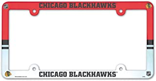 Chicago Blackhawks Official NHL 12 inch x 6 inch Plastic License Plate Frame by Wincraft