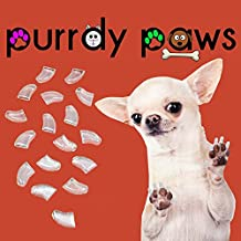 Purrdy Paws 40-Pack Soft Nail Caps for Dogs Claws Clear