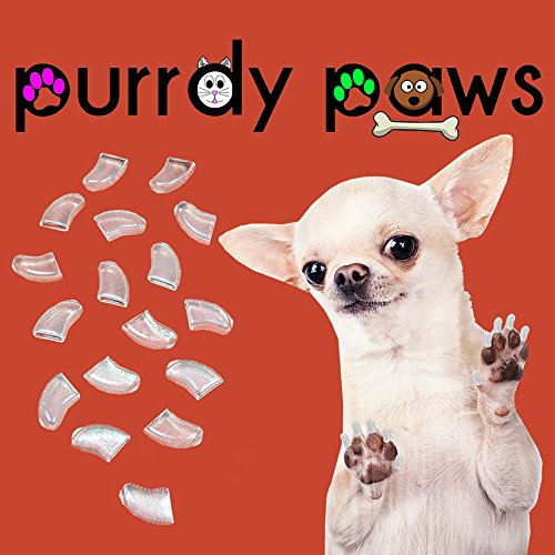 Purrdy Paws Soft Nail Caps for Dog Claws Clear Large