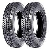VANACC Set of 2 Highway Boat Motorcycle Trailer Tires 5.30-12 5.30x12 530-12 Load Range C, 6PR