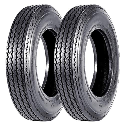 VANACC Set of 2 Highway Boat Motorcycle Trailer Tires 5.30-12 5.30x12 530-12 Load Range C, 6PR