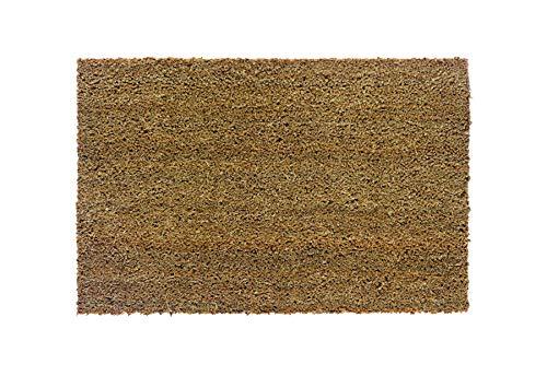 Carpido rutschfeste Kokosmatte Keira - antibakterielle Fussmatte für den überdachten Außenbereich - nachhaltige Naturfaser - 100% Kokos - 50 x 80 cm - Natur