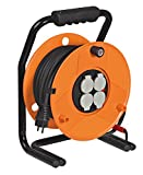 Brennenstuhl 1136921enrollador de cable eléctrico garant SP IP44, H07RN-F 3G1,5, Amarillo, 1136931