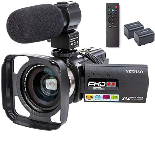 Camcorder Video Camera YEEHAO WiFi HD 1080P