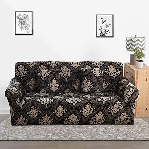 Funda de sofá gris Fundas para muebles elásticas Fundas de sofá elásticas para sala de estar Funda de asiento con funda deslizante Funda de asiento de spandex sofá 1-4 plazas, Color 1,4-Seater (235-3