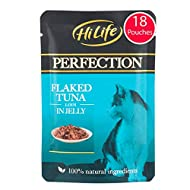 HiLife Perfection - Wet Cat Food - Flaked Tuna Loin in Jelly - Natural Ingredients Grain Free, 18 Po...
