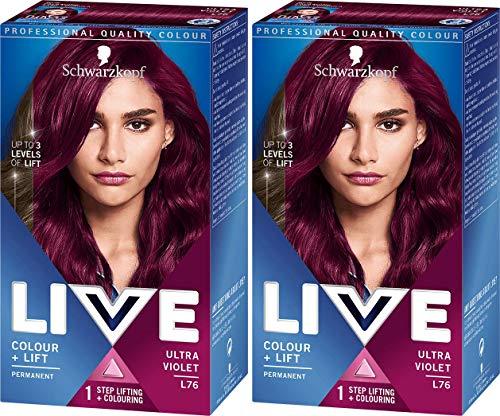 Schwarzkopf XXL Live HD Luminance Ultra-Violet L76 - Lot De 2