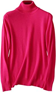 LATUD Womens' Cashmere Turtleneck Knit Sweater