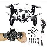 Mini montre WiFi 8.0MP caméra HD Drone voyageur drone débutant avec optique anti-tremblement Quadricoptère Une clé Décollage / atterrissage / arrêt cadeau d'anniversaire d'hélicoptère pour enfants et