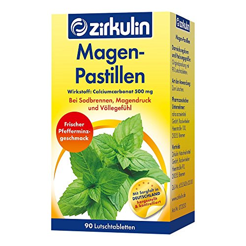 ZIRKULIN Magen-Pastillen 90 St Lutschtabletten