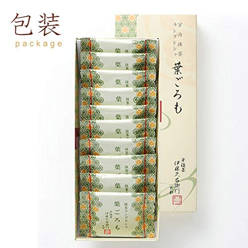 伊藤久右衛門御歳暮宇治抹茶チョコラングドシャ葉ごろも10枚入り化粧箱京都お土産