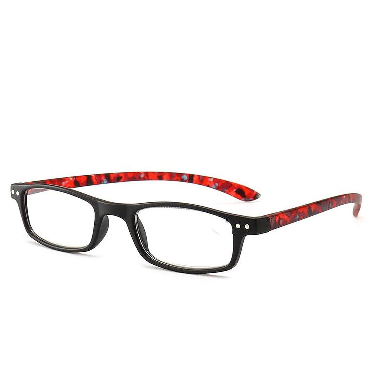 力リズム課すT128老眼鏡ジオプター+1.0?+4.0女性男性フルフレームラウンドレンズ老視メガネ超軽量抗疲労 (PandaWelly)