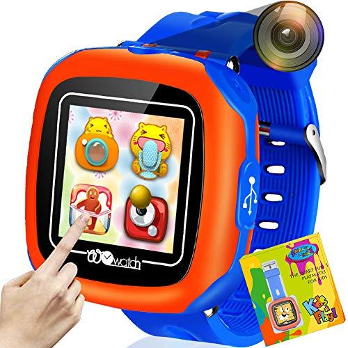 Reloj Inteligente Pantalla táctil Niños Game Smartwatches Función de cámara Pedómetro Calculadora Función de Alarma Función de cronómetro Banda de Reloj cómoda del diseño (Blue)