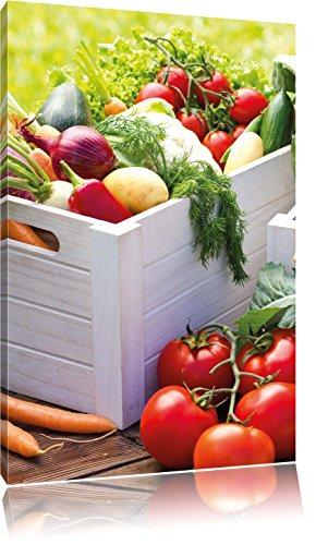 Fruit Groenten komkommer tomaatFoto Canvas | Maat: 80x60 cm | Wanddecoraties | Kunstdruk | Volledig gemonteerd