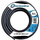 Electraline 20218283D Couronne de Câble U-1000 R2V 3G2,5 5M, Noir