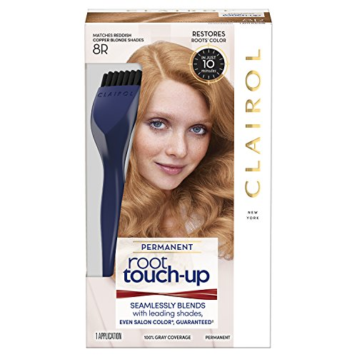 Clairol Root Touch-Up Permanent Hair Color Creme, 8R Medium Reddish Copper Blonde, 1 Count