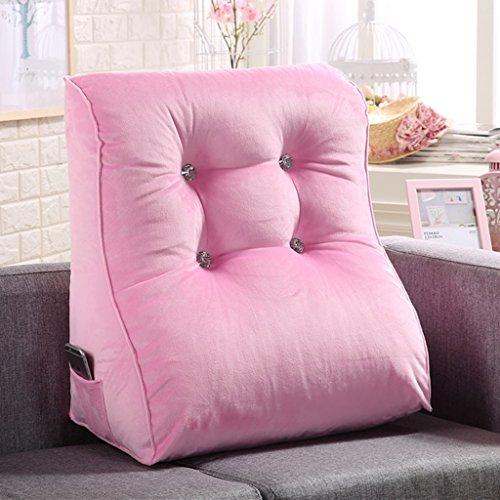 Coussins de couleur unie peut soutenir la taille et le cou adapté pour les chaises de bureau canapés fauteuils tables de nuit sièges d'auto et fauteuils roulants. (Color : Red)