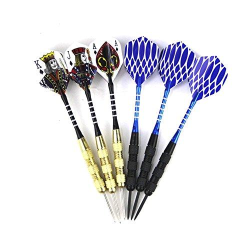 ShuGuan Pokers freccette freccette con punta in acciaio (6-pcs)–professionale o principiante Throwing