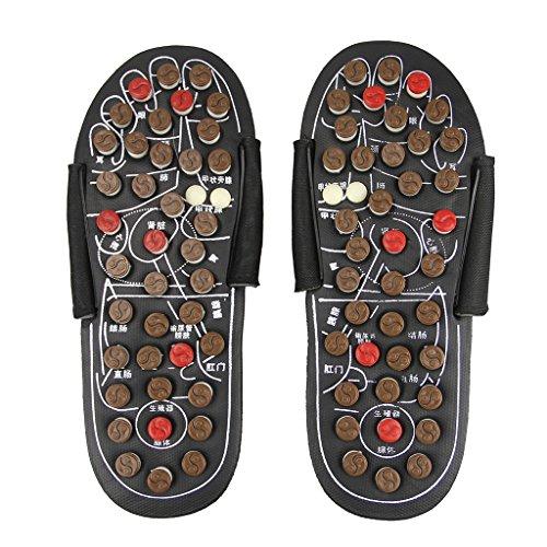 Chaussures Santé Réflexologie Pantoufle d'Acupression de Tai Chi Bagua Sandales de Massage Réglable Avec Boutons d'Acupressure Slippers Favoriser La Circulation Sanguin Tongs Améliorer La Métabolisme