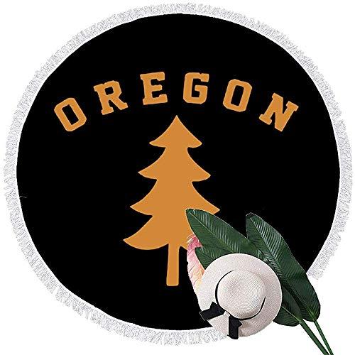 Strandhanddoek Oregon Douglas dennenboom handdoeken met kwast microvezel oversized ronde picknick mat tapijt tafel deken
