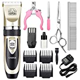 CAHTUOO Dog Grooming Clippers, Professional Pet...