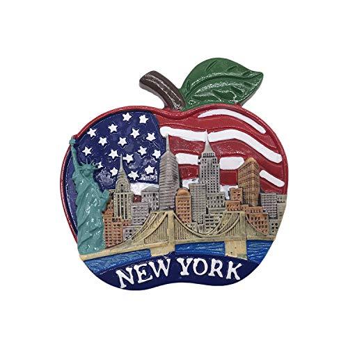 3D New York USA Frigorifero Magnete Frigo Souvenir turistici Mestiere in Resina Fatti a Mano Adesivi magnetici Casa Cucina Decorazione Regalo di Viaggio