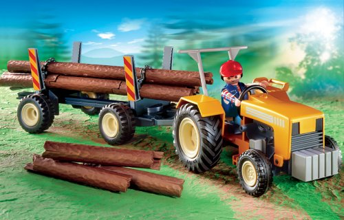PLAYMOBIL® 4209 - Traktor mit Langholztransport