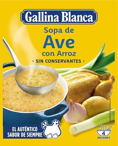 Gallina Blanca Sopa de Ave con Arroz, 80g