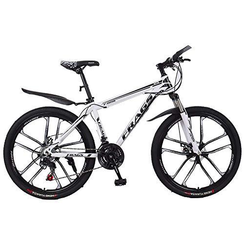 XIAOFEI Mountainbike Männerfahrräder mit Variabler Geschwindigkeit im Gelände, stoßdämpfende 24/26-Zoll-21-Gang-Vorderradgabel, verdickter Rahmen,C6,26 21S