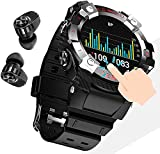 CXWAWSZ Smart Watch with Earbuds 2 in 1 Call, Fitness Tracker with Blood Oxygen Heart Rate Sleep Monitor, 1.28 Inch Touch HD Screen Activity Tracker for iPhone Samsung Android Phones