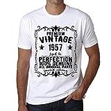 One in the City Premium Vintage Year 1957 Cumpleaños de 64 años Vintage Camiseta cumpleaños Camisetas Camiseta Regalo