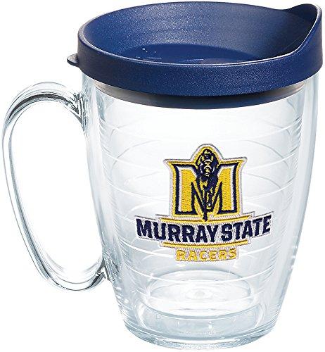 Tervis Copo com logotipo Murray State Racers com emblema e tampa azul marinho 473 ml, transparente