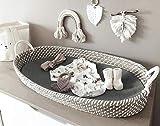 Cambiador de bebé sólido con colchón de tres capas, cesta de bebé, cesta de moisés, cesta de mimbre hecha a mano para baby shower