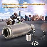 KKmoon universel de voiture Silencieux D'Échappement en acier inoxydable pour?; 38–51mm en fibre de carbone Coque oblique Queue/Silencieux D'Échappement avec ajustement pour motos ATV universel