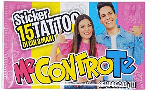 Me contro Te- 4 bustine Stickers Tattoo con 15 Tatuaggi temporanei per Bambini luì e sofì