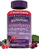 Organic Elderberry Gummies with Zinc and Vitamin C (120 Count) - Two-Month...