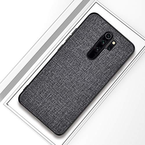 Liluyao Funda telefónica para Xiaomi para Xiaomi redmi el Caso Protector de TPU 9 a Prueba de Golpes Textura del paño de la PC (Color : Grey)