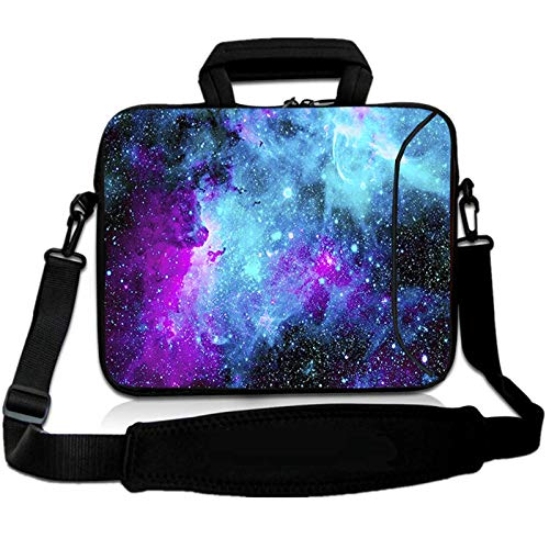 RICHEN 11 11.6 12 12.5 13 inches Case Laptop/Chromebook/Ultrabook/MacBook pro air Notebook PC Messenger Bag Tablet Travel Case Neoprene Handle Sleeve with Shoulder (11-13.3 inch, Galaxy)