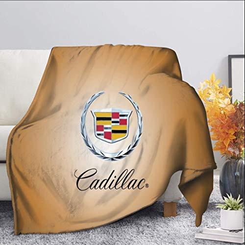 Cadillac Manta de forro polar de 125 x 150 cm, manta de franela suave y cálida de felpa para cama/sofá/oficina/camping