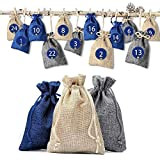 JoyRolly Jutesäckchen Säckchen Zum Befüllen Weihnachtstaschen Taschen verheiratete Partner Weihnachtszubehör Weihnachtsbaum Dekoration