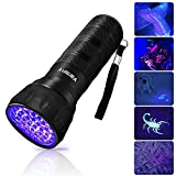 Black Light UV Flashlight, Mini 395nm UV Lights 21 LED Blacklight Detector for Cat/Dog Urine, Pet Stains and Bed Bug Matching with Pet Odor Eliminator[Batteries Included]