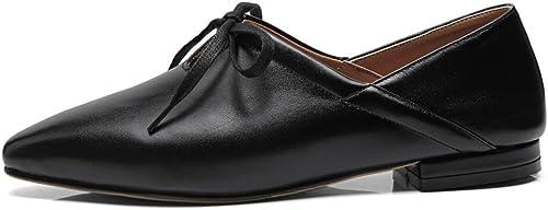 CBDGD Chaussures Décontracté Plates pour Femmes, Talons Hauts, Noeud Papillon, Papillon, Papillon, Chaussures de Mode, Chaussures de Travail Blanches Noires Talons Hauts (Couleur   noir, Taille   34 EU) 130