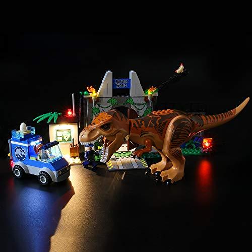 LIGHTAILING Set di Luci per (Juniors L'evasione del T. Rex) Modello da Costruire - Kit Luce LED Compatibile con Lego 10758 (Non Incluso nel Modello)